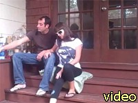 nice couple fucking on the porch